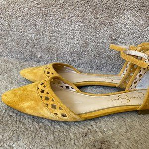 NWOT Jessica Simpson Suede Flats